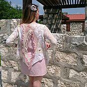 """Одежда ручной работы. Ярмарка Мастеров - ручная работа """"Ажурная"""" кофта без застежки. Handmade."""