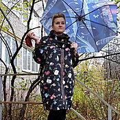 Одежда ручной работы. Ярмарка Мастеров - ручная работа Пальто  Нескучная осень (из неопрена). Handmade.