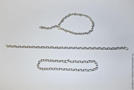 Для украшений ручной работы. Ярмарка Мастеров - ручная работа. Купить якорные цепочки-основы для браслетов и колье (серебро 925 пробы). Handmade.