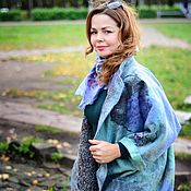 Пальто ручной работы. Ярмарка Мастеров - ручная работа Пальто валяное. Туманное утро. Handmade.