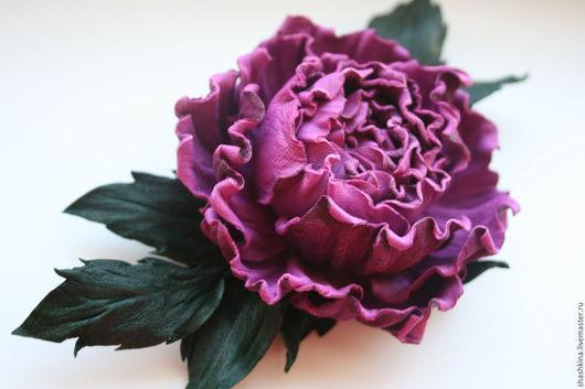"""Броши ручной работы. Ярмарка Мастеров - ручная работа. Купить Брошь из кожи """"Fiorella"""". Цветы из кожи, броши из кожи, роза из кожи.. Handmade."""