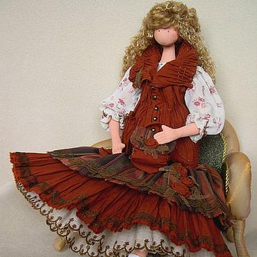 Куклы и игрушки ручной работы. Ярмарка Мастеров - ручная работа Интерьерная кукла  Ксюша. Handmade.