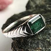 Украшения handmade. Livemaster - original item Silver ring with Emerald 1,89 ct natural Emerald handmade. Handmade.