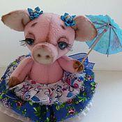 Куклы и игрушки ручной работы. Ярмарка Мастеров - ручная работа Плюшевая Свинка Балеринка. Handmade.