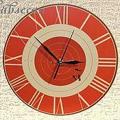 """Для дома и интерьера ручной работы. Ярмарка Мастеров - ручная работа Часы настенные """"Мишень"""" круглые в подарок мужчине. Handmade."""