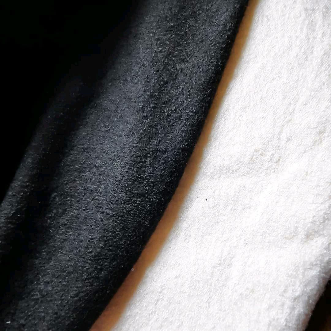 Ткань лоден ,вареная шерсть , молочная и черная, Ткани, Москва,  Фото №1