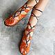 """Обувь ручной работы. Ярмарка Мастеров - ручная работа. Купить Кожаные сандалии ручной работы """"Whiskey Super Sexy"""". Handmade."""