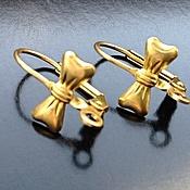 Материалы для творчества handmade. Livemaster - original item Shvenzy for jewelry art. 4-2A Gold bows, brass. Handmade.