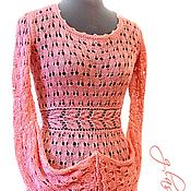 """Одежда ручной работы. Ярмарка Мастеров - ручная работа Платье ажурное шелковое """"Coral"""" ручной работы. Handmade."""