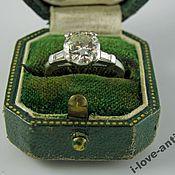 Кольца винтажные ручной работы. Ярмарка Мастеров - ручная работа Старинное кольцо 1.62 карат, Платина, бриллианты, 1930-е. Handmade.