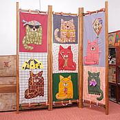 Для дома и интерьера ручной работы. Ярмарка Мастеров - ручная работа Семь котов из лоскутов. Handmade.