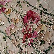 Картины и панно handmade. Livemaster - original item Roses bright pink purple flowers buy painting in bedroom. Handmade.