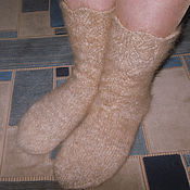 Аксессуары handmade. Livemaster - original item Women`s knitted socks Golden lace. Handmade.