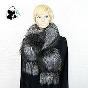 Аксессуары handmade. Livemaster - original item Chic fur boa scarf made of Finnish black and brown Fox fur.. Handmade.