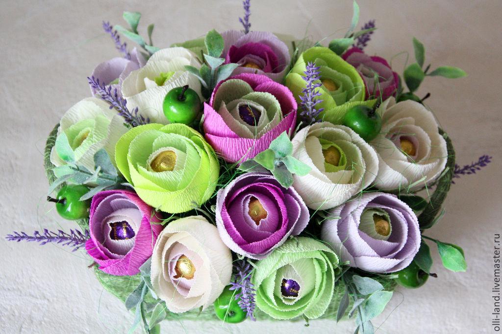 Букеты из цветов пошагово с