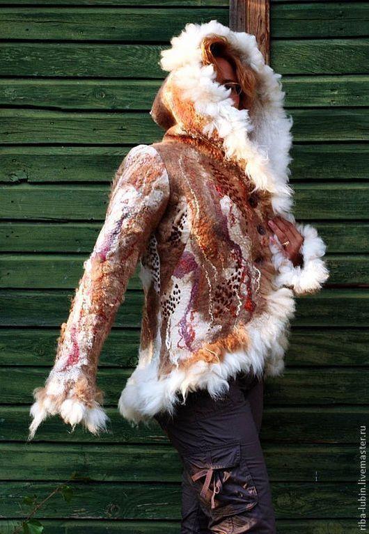"""Верхняя одежда ручной работы. Ярмарка Мастеров - ручная работа. Купить По мотивам работы """"Парка из альпаки """"Жозефин"""". Handmade."""
