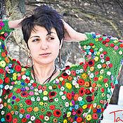 """Одежда ручной работы. Ярмарка Мастеров - ручная работа Кофта по мотивам картины Моне """"Маковое поле"""". Handmade."""