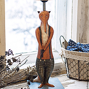 Для дома и интерьера ручной работы. Ярмарка Мастеров - ручная работа Лампа Лис. Handmade.