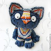 Куклы и игрушки ручной работы. Ярмарка Мастеров - ручная работа Синий кот Нарядный I. Handmade.