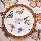 Посуда handmade. Livemaster - original item Motley butterflies. Dish ceramic.. Handmade.
