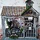 """Кукольный дом ручной работы. Заказать Румбокс """"Старинная английская аптека"""". Миленькие штучки (chasovschik). Ярмарка Мастеров. Румбокс аптека"""