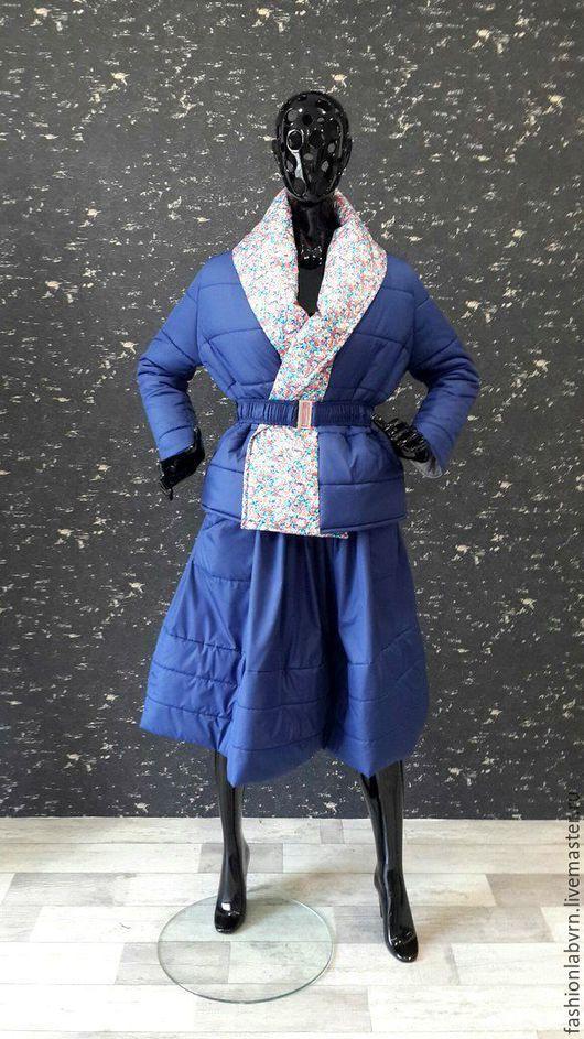 """Костюмы ручной работы. Ярмарка Мастеров - ручная работа. Купить Костюм теплый юбка+куртка на синтепоне """"Теплый сезон"""". Handmade. Разноцветный"""