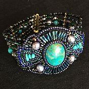Украшения handmade. Livemaster - original item Bracelet with chrysocolla , turquoise and pearls. Handmade.