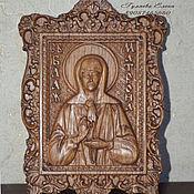 Резная икона из дерева святая Матронушка