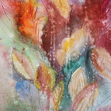 Картины и панно ручной работы. Ярмарка Мастеров - ручная работа Слушая музыку осени. Джаз...Акварель. Handmade.