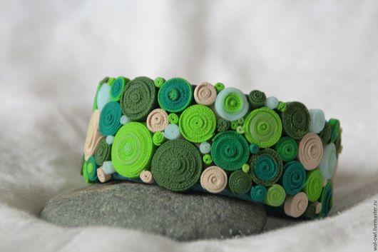 """Браслеты ручной работы. Ярмарка Мастеров - ручная работа. Купить Браслет """"Зелень"""". Handmade. Зеленый, пластика, Браслет ручной работы"""