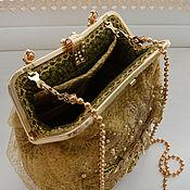 handmade. Livemaster - original item Gold evening bag. Handmade.