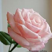 Цветы и флористика ручной работы. Ярмарка Мастеров - ручная работа Нежность утра. Роза (холодный фарфор). Handmade.