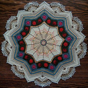Для дома и интерьера handmade. Livemaster - original item Crochet napkin