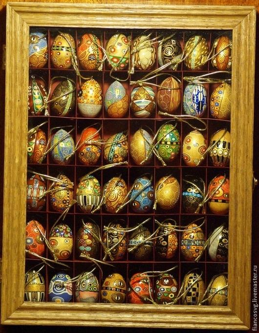 Набор из 48 вручную расписанных яиц в стиле Климт.