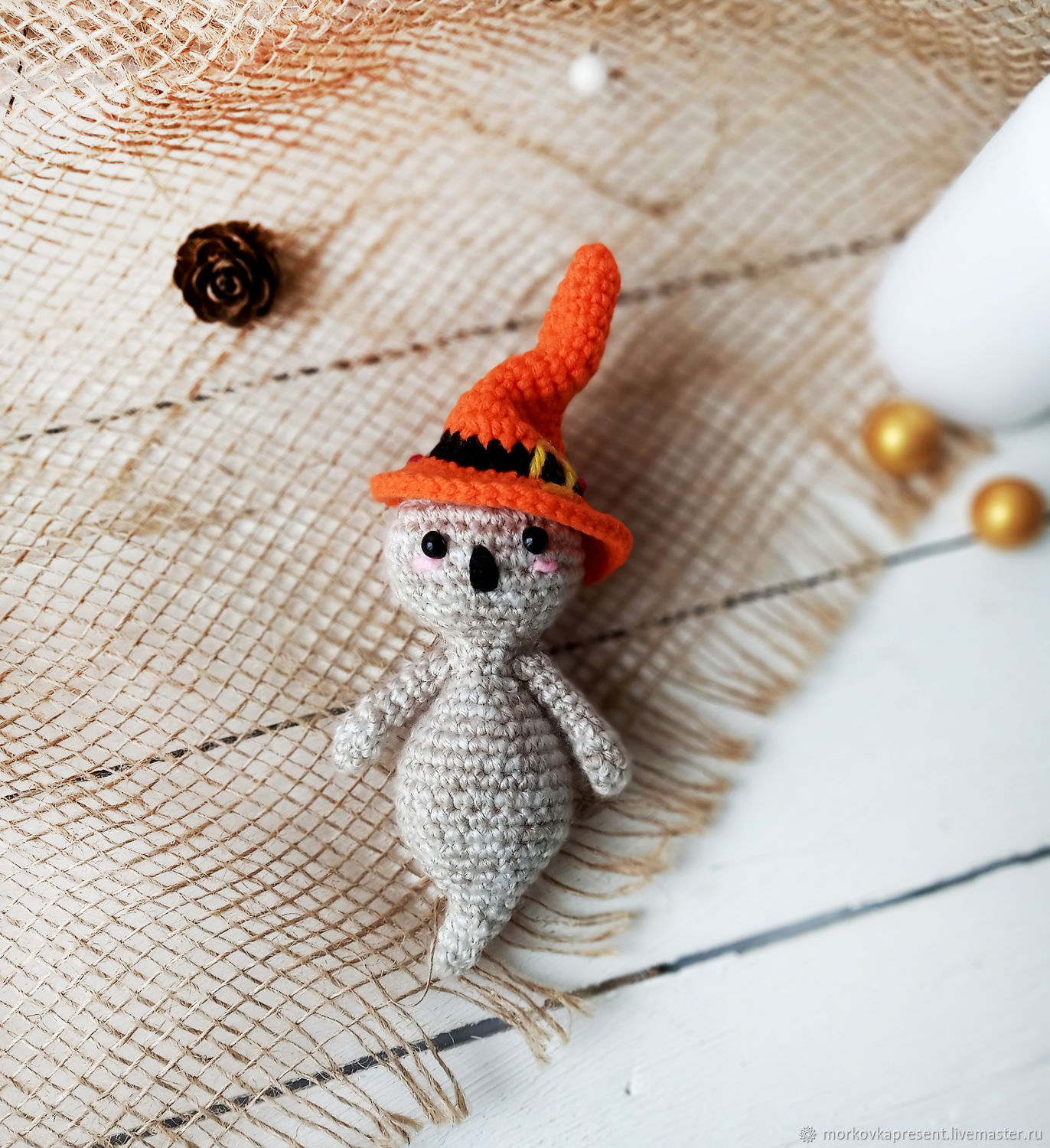 Ghost. knitted toy, Stuffed Toys, Chaikovsky,  Фото №1