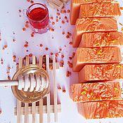 Мыло ручной работы. Ярмарка Мастеров - ручная работа Натуральное мыло с нуля Медовая облепиха оранжевый подарок. Handmade.