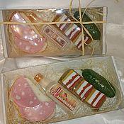 Косметика ручной работы. Ярмарка Мастеров - ручная работа Подарочный набор мыла мужчине. Мыло водка,бутерброды. Handmade.