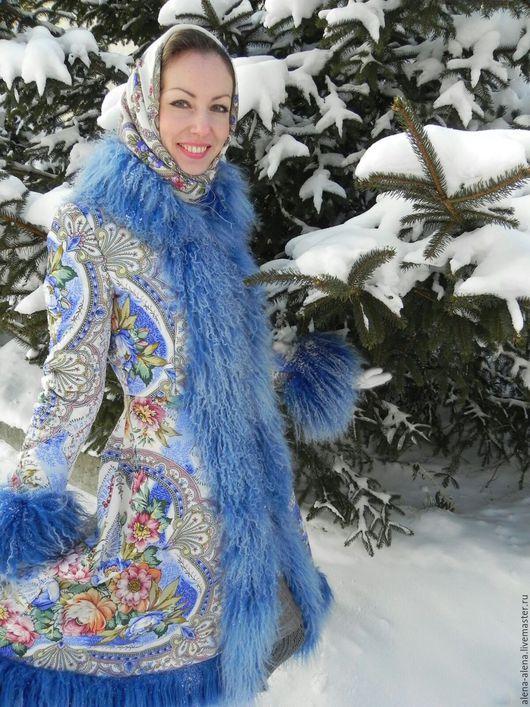 """Верхняя одежда ручной работы. Ярмарка Мастеров - ручная работа. Купить Пальто """"Зимняя сказка"""".. Handmade. Комбинированный, дизайнерская одежда"""