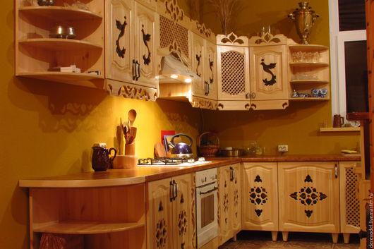 Мебель ручной работы. Ярмарка Мастеров - ручная работа. Купить Эксклюзивная кухня из массива сосны с островом. Handmade. Кухня