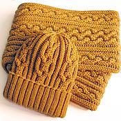 Аксессуары handmade. Livemaster - original item Knitted set: snood and hat