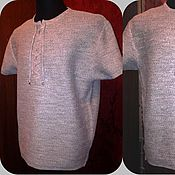 Одежда ручной работы. Ярмарка Мастеров - ручная работа 100%лён Мужская рубашка Кольчуга. Handmade.