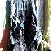 Одежда ручной работы. Ярмарка Мастеров - ручная работа юбка ДЖИНСОВОЕ БОХО. Handmade.