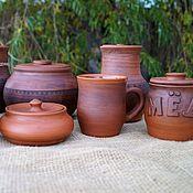 Русский стиль handmade. Livemaster - original item Set of pottery antique. Handmade.