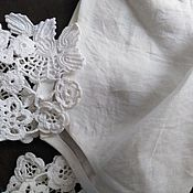 Воротнички ручной работы. Ярмарка Мастеров - ручная работа Кокетки для блузы платья топа. Handmade.