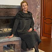 Одежда handmade. Livemaster - original item Sweater dress in a melange with accessories. Handmade.