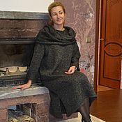 Одежда ручной работы. Ярмарка Мастеров - ручная работа Платье-свитер меланж с аксессуарами. Handmade.