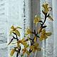 Цветы ручной работы. Ярмарка Мастеров - ручная работа. Купить форзиция сахарный цветок. Handmade. Цветы, ветка, пищевые красители