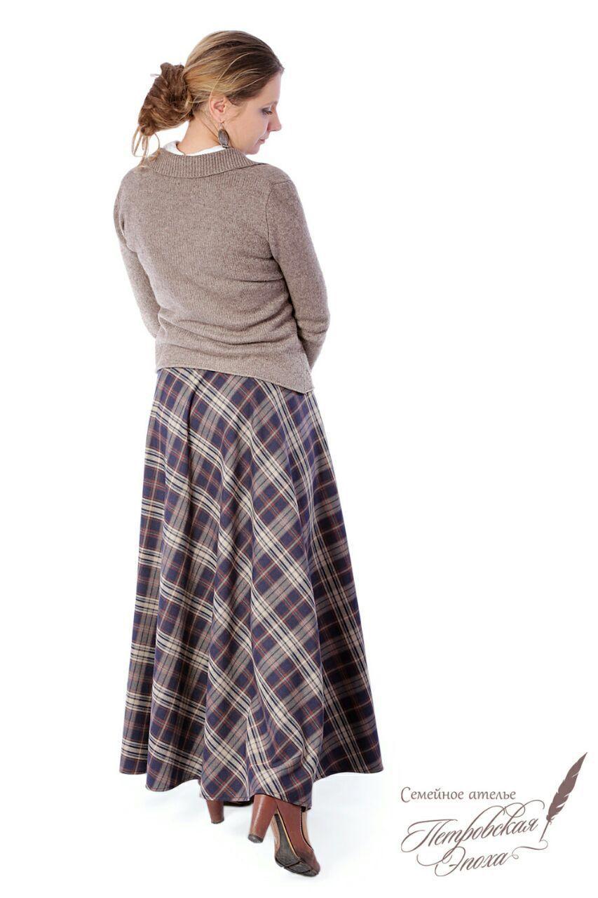 bc696ec556f Юбки ручной работы. Ярмарка Мастеров - ручная работа. Купить Тёплая юбка в  клетку.