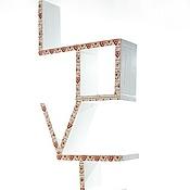 """Для дома и интерьера ручной работы. Ярмарка Мастеров - ручная работа Полка настенная """"Love"""". Handmade."""
