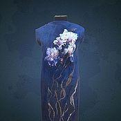 """Картины и панно ручной работы. Ярмарка Мастеров - ручная работа """"Purple Iris """".Сollin Вogle. Нуновойлочные купоны.Шерстяная живопись. Handmade."""
